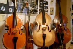 da sinistra: 1/4 Stentor, Stanzani upright, Compensatone del '56, Ottaviani del '89